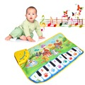 Children Piano Mat Animal Pattern Baby Touch Play Keyboard Musical Carpet Hot