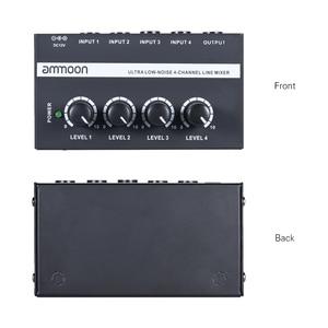 Image 2 - Ammoon MX400 4 채널 믹서 초소형 저잡음 4 채널 라인 모노 오디오 믹서 (전원 어댑터 포함)