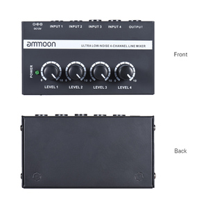 Image 2 - ammoon MX400 4 Channels Mixer Ultra compact Low Noise 4 Channels Line Mono Audio Mixer with Power Adapter
