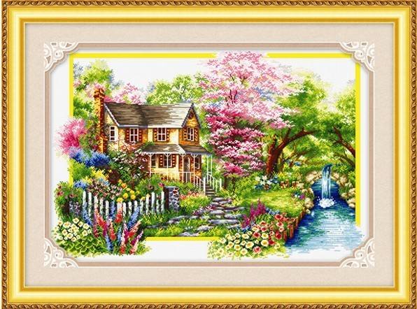 100% Printed Unfinished Cross Stitch Pattern Sets