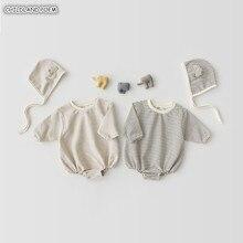 Одежда для малышей сезон: весна-лето новорожденных маленьких девочек ползунки хлопок детские комбинезоны для младенцев маленьких мальчико