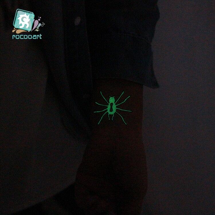Halloween Glow in the dark Temporary Tattoo 2
