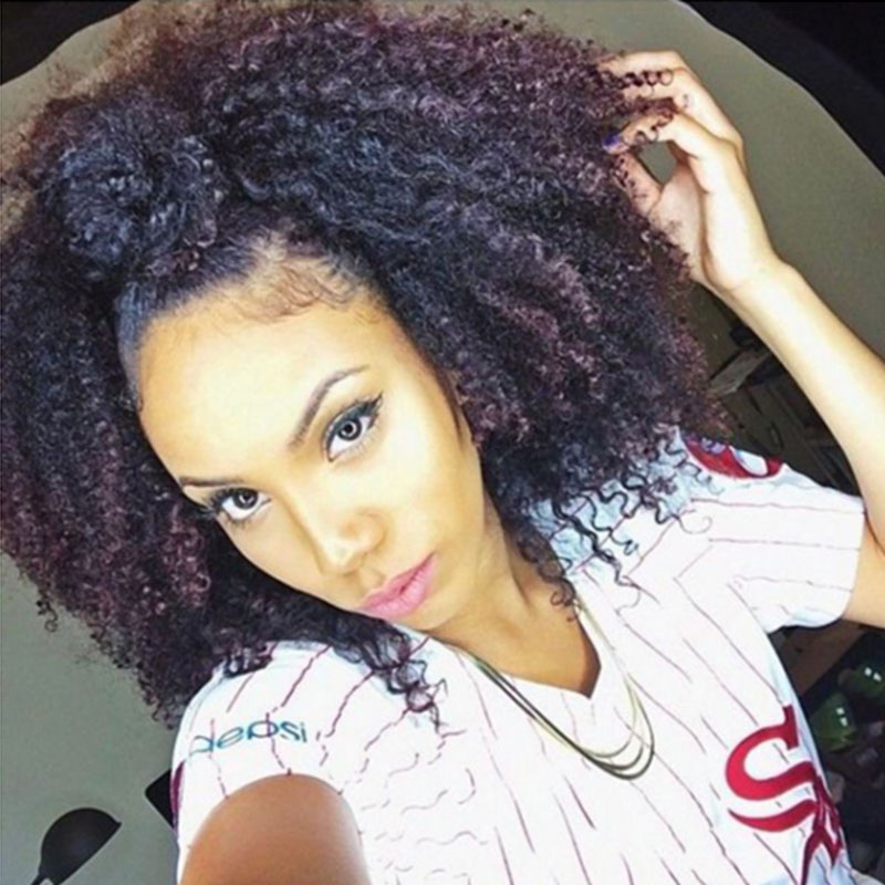 Clip In Human Hair Extensions African American 4B 4C Afro Kinky Curly Clip in Hair Extensions Brazilian Virgin Natural Clip Ins
