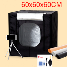 60*60*60CM LED Photo Studio Light Tent Shooting Softbox Photography Light Box Kit With Free Gift +Portable Bag +Dimmer Switch
