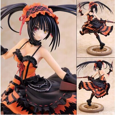 Free Shipping Cool 9 Date A Live Tokisaki Kurumi Gun Ver. 1/8 Scale Boxed 23cm PVC Action Figure Collection Model Doll Toy Gift free shipping 6 comics dc superhero shfiguarts batman injustice ver boxed 16cm pvc action figure collection model doll toy