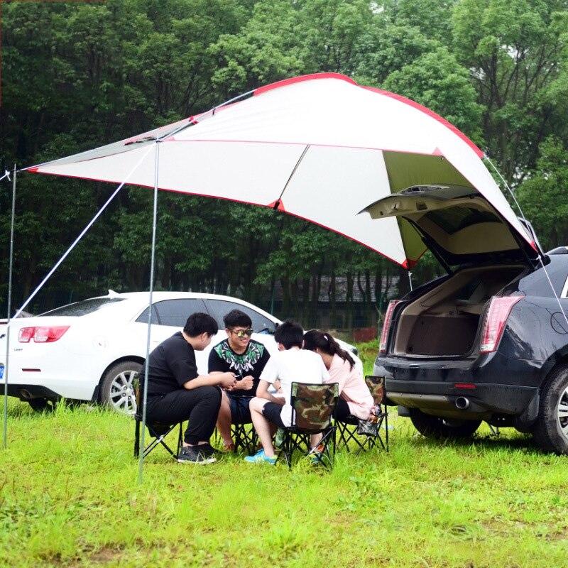 Camping en plein air Tentes De Voiture Canopy Famille Remorque Tente Extérieure pour le Camping Plage 3-4 personnes Parasol ZS6-2803