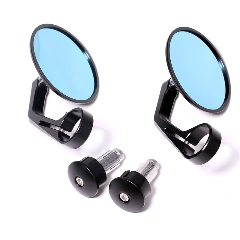 Cafe Racer Bar End mirror 13mm-18mm Motorcycle mirror for Universal CNC Handle Bar End Rear Side View Mirrors Round Side Mirrors