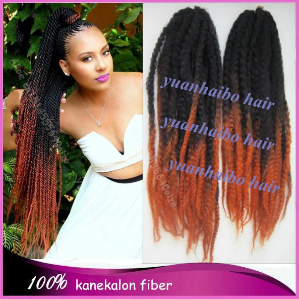 20inch Folded Colored Two Tone 1bt30 Synthetic Box Braiding Marley Twist Hair Free