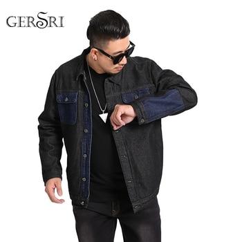 Gersri Men Jacket and Coat Trendy Warm Fleece Denim Jacket 2020 Winter Fashion Mens Jean Jacket Outwear Male Cowboy Plus Size фото