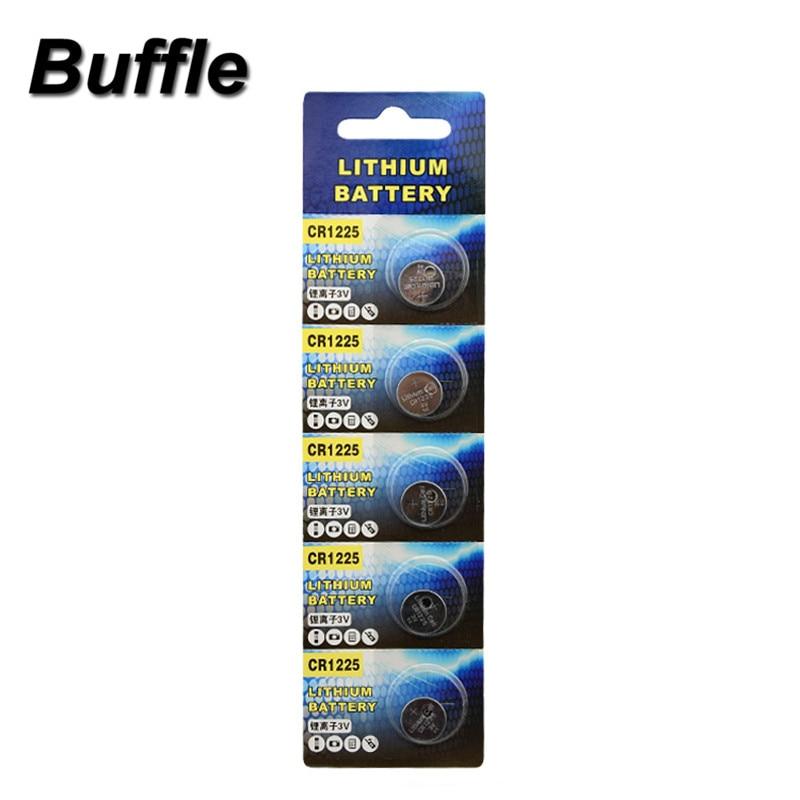 5x Buffle Baterias CR1225 3 V Bateria Da Tecla Chave Remota Do Carro Atacado Óculos 3D EE6267 ECR1225 KCR1225 BR1225 LM1225