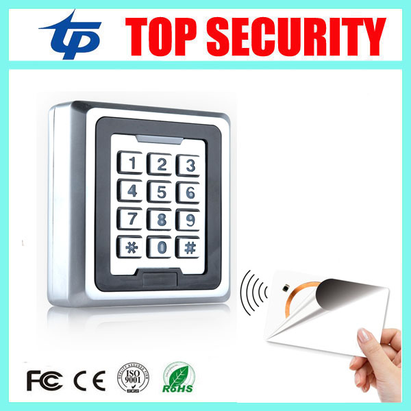 13.56MHZ IC MF card standalone smart card access controller 8000 users high speed door access control system card reader outdoor mf 13 56mhz weigand 26 door access control rfid card reader with two led lights
