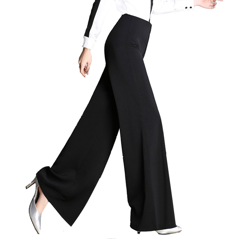 LZMZA Fashion   Wide     Leg     Pants   Womens Autumn High Waist Office Ladies   Pant   Women winter loose Casual black Trousers female 4XL