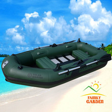 3 Person Inflatable Fishing Boat Kayak Canoe With Wooden Slats Bottom For Drifting Surfing Sandbeach