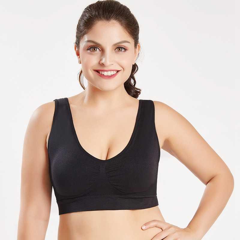 b2598d0e85f2b Large Size Sports Bras Women Push Up Sport Bra 6Xl 5Xl 4Xl 3Xl Seamless  Solid Underwear