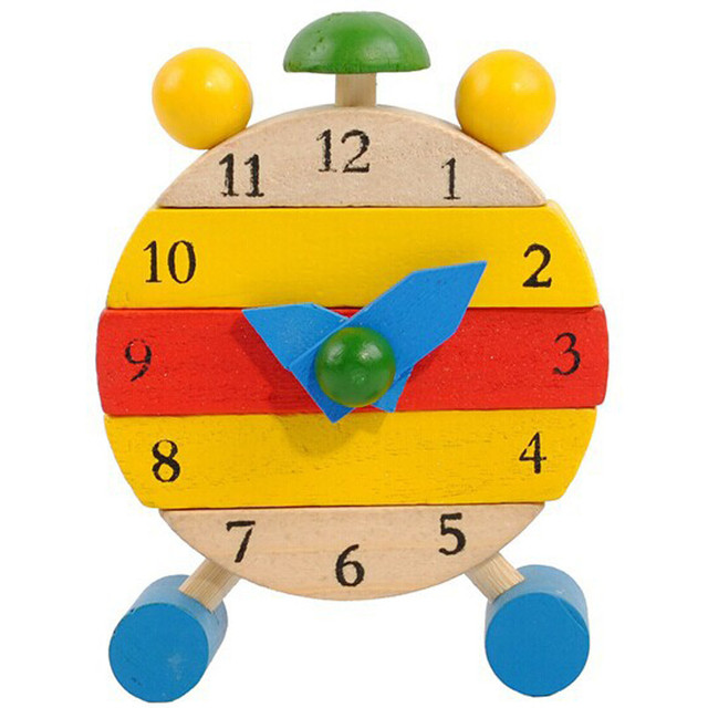 Hand Made Wooden Clock Toys for Kids Learn Time Clock Educational Toys Develop intelligence Inteligencia en desarrollo