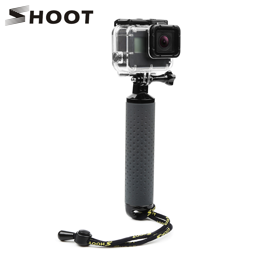 SHOOT Handheld Float Grip Monopod for Gopro Hero 9 8 7 5 Black Xiaomi Yi 4K Sjcam Sj4000 M10 M20 Eken Go Pro 8 Camera Accessory