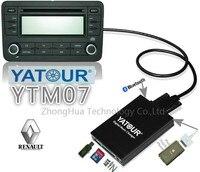 YTM07 Yatour Digital music changer AUX Bluetooth USB SD ipod iphone dla Renault Tuner Lista/Tuner Listy Aktualizacja 8-pin Odtwarzacz MP3
