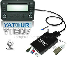 Yatour YTM07 Digital music changer USB SD AUX Bluetooth ipod iphone for Renault Tuner List/Tuner Update List 8-pin MP3 Player