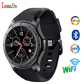 Lemfo lf16 smart watch suporte 3g gps wifi bluetooth freqüência cardíaca pedômetro saúde smartwatch para s3 apple huawei motor da engrenagem
