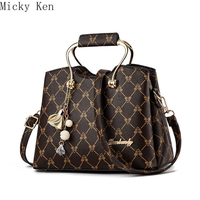 2019 Fashion Women's shoulder bag PU leather totes purses Female leather messenger crossbody bags Ladies handbags(China)