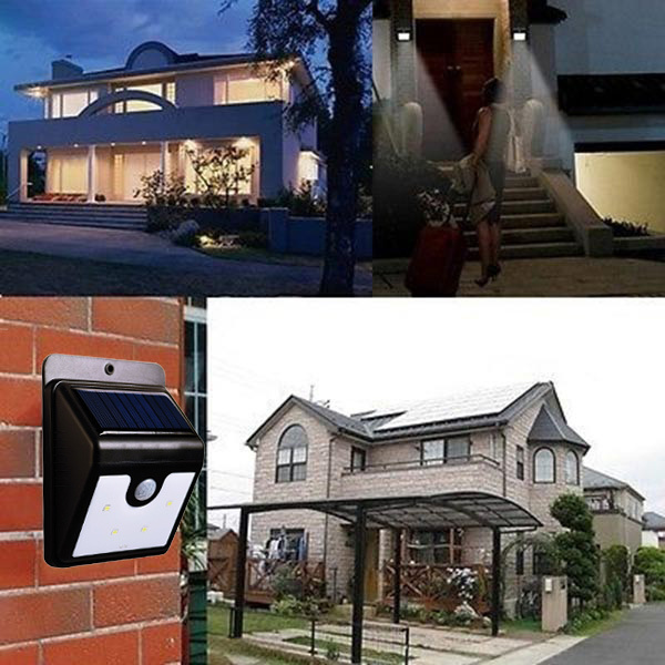 Outdoor Heater LED Solar Power PIR Motion Sensor Wall Mounted Waterproof Electric Light LED for Home Garden Security Lamp