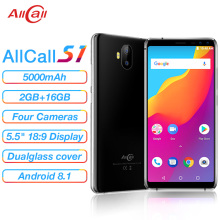 Allcall S1 5000mAh 3G Smartphone MTK6580 Quad Core 2GB 16GB Android 8.1 18:9 5.5 Inch 8MP+2MP Rear D