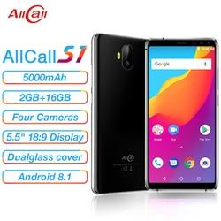Allcall S1 MTK6580 Quad Core 2GB 16GB  Android 8.1 18:9 5.5 Inch  Four Camera  8MP+2MPRear Dual-camera 5000mAh 3G Smartphone