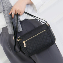 2019 New Korean Fashion Women Bags Diamond Lattice Casual Small Messenger Bag Mini Lady Shoulder Bag Hot Sale Nylon bolso mujer 2019 new women s shoulder messenger bag fashion wild lady bag magnetic buckle opening simple small square package bolso mujer