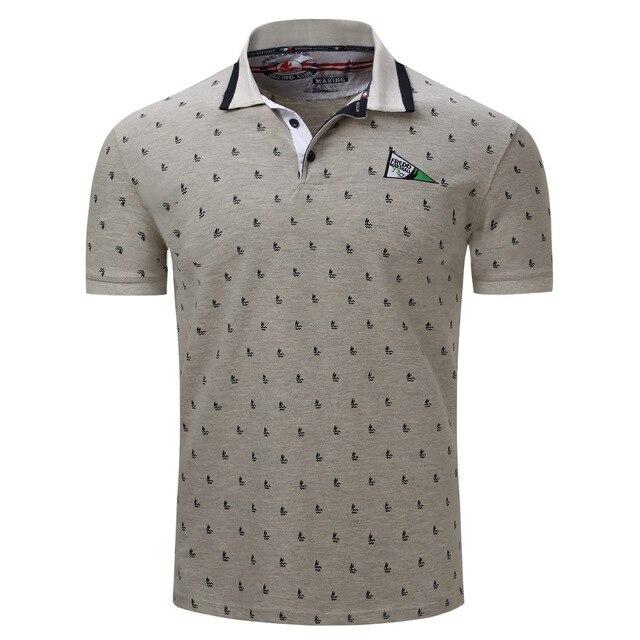 Nova Verão 2018 Camisa Polo Dos Homens do Algodão Moda Veleiro Dots  Imprimir Camisas Pólo de d2dabfa880147