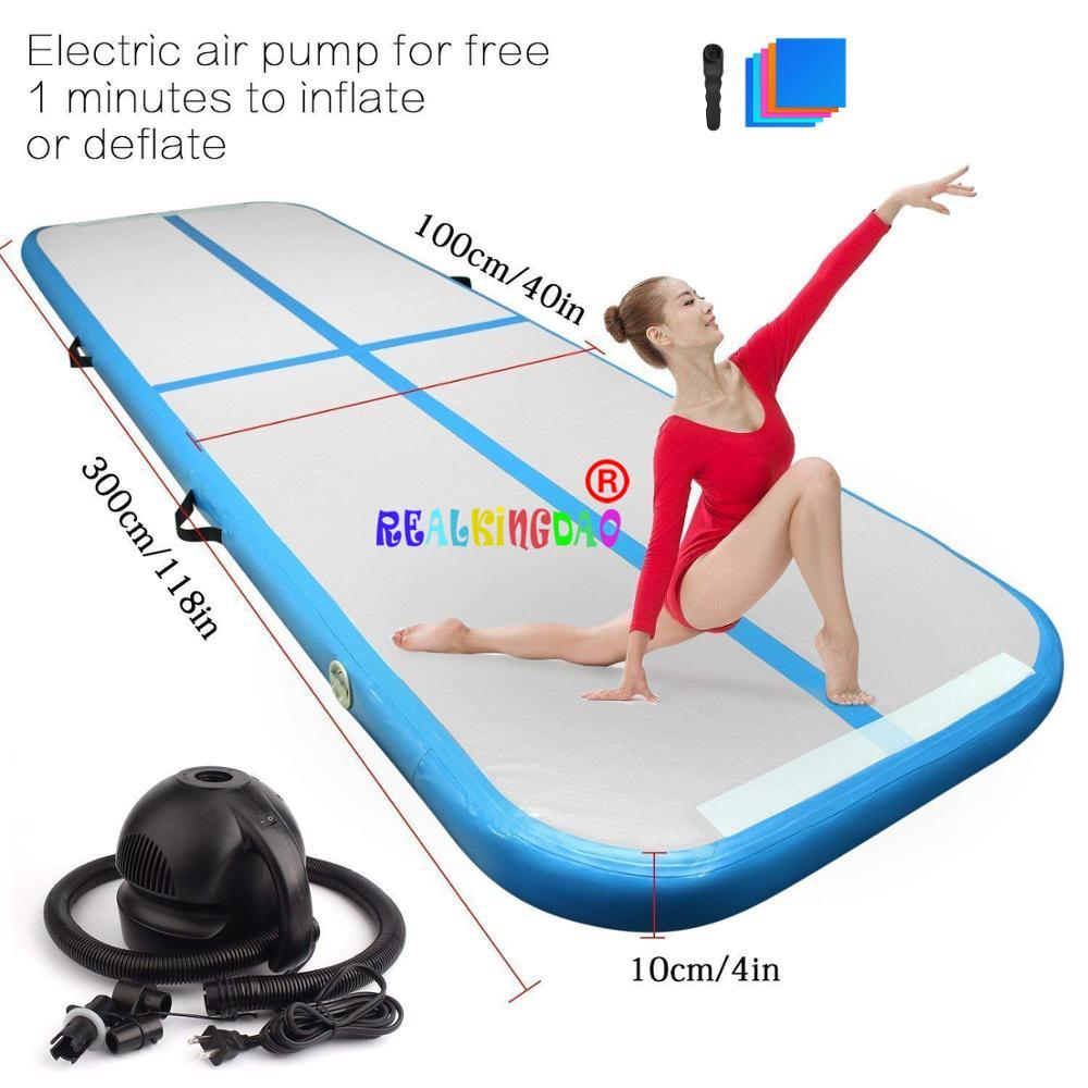 2019 nueva pista de aire 3m 4m 5m pista de aire inflable Olimpiadas gimnasio estera Yoga aire inflable gimnasio uso doméstico de pista de aire en venta