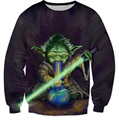 Star Wars Yoda Characters 3D Crewneck Sweatshirt Women Men Fashion Brand Clothing harajuku Casual pullover Plus Size