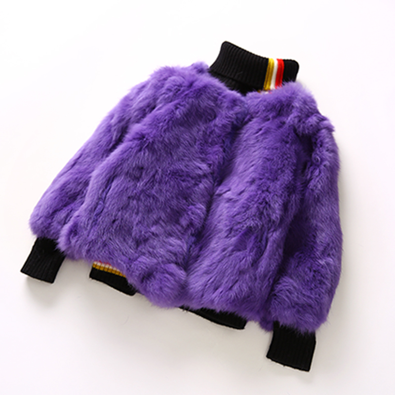Girls Fur Jacket 2018 Winter Coat Girl New Pure Color Joker Thickening Warm Princess Rabbit Fur Thick Warm Coat 3-7T 2017 winter new clothes to overcome the coat of women in the long reed rabbit hair fur fur coat fox raccoon fur collar