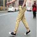 Мужская Марка плюс размер Шаровары брюки 2017 Летняя Мода хлопка лодыжки объединились брюки Тощий брюки брюки молодых мужчины