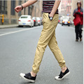 Men's Brand plus size Harem pants trousers 2017 Summer Fashion cotton ankle banded Casual pants Skinny pant trousers young Men