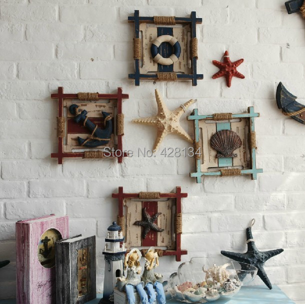 Aliexpress Com Wooden Sea Theme Hanging Decoration Items Four Styles C5215 Beach And Sand Series Pure Handmade On Price Per Item From