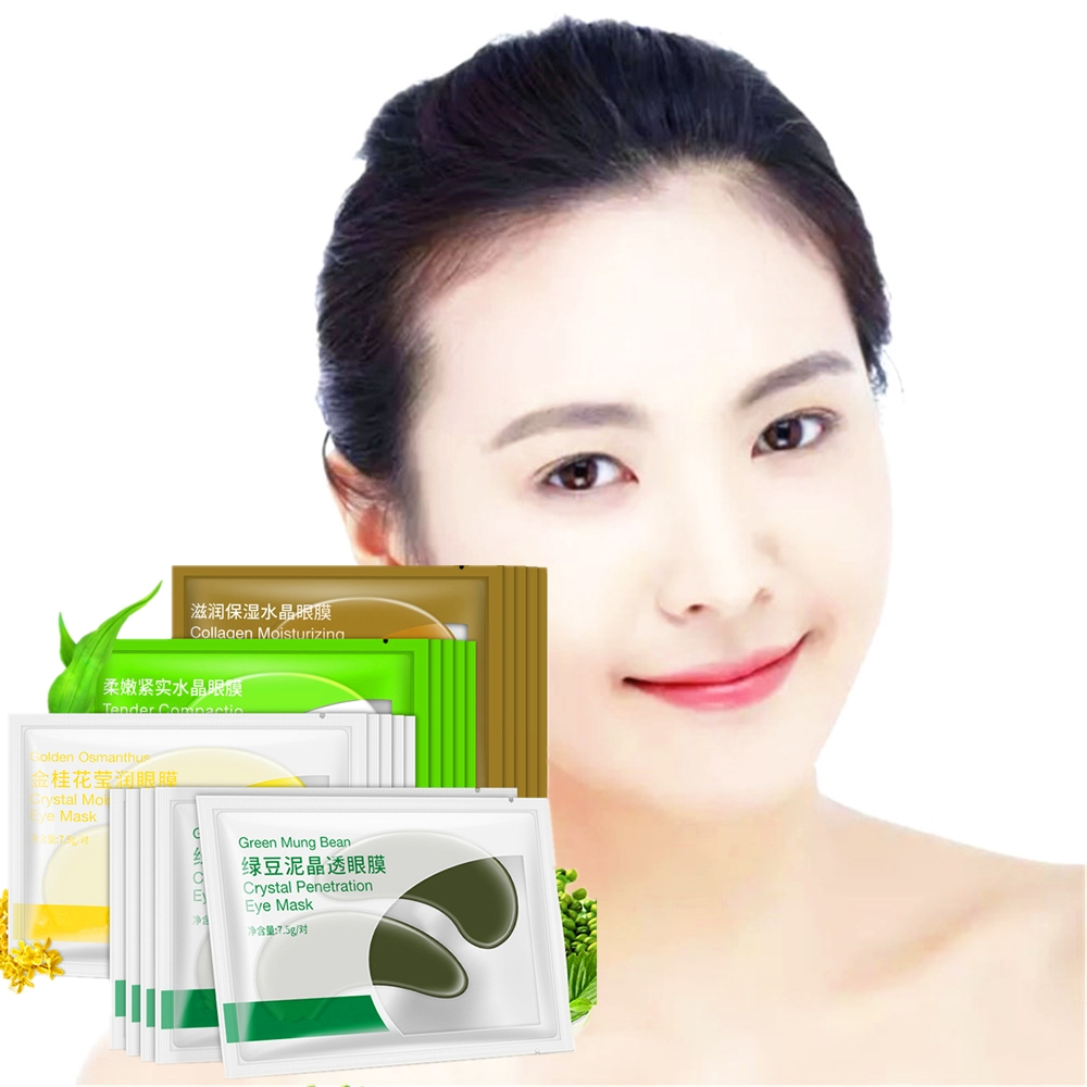 DISAAR 4 Pairs Gold Osmanthus Vitamin C Eye Patch Dark Circles Puffy Anti-aging Moisture