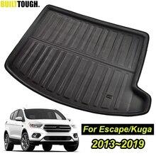 Pour Ford Escape Kuga 2013 2014 2015 2016   2019 3d tapis de démarrage arrière coffre Liner Cargo plancher plateau tapis boue coup de pied protecteur superposition