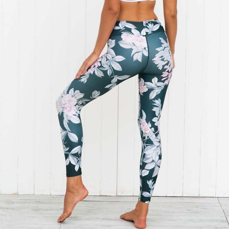 mejores zapatillas de deporte sitio web profesional estilo moderno Exercício de Treinamento Legging para Mulheres Gráfico da Flor Esporte de  Fitness Yoga Calças Workout Gym Jogging Joga Camisa Senhoras Roupas