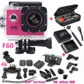 "Sports Camera 2.0"" 4K 1080P HD Camera wifi F60 Sport DV action camera waterproof 30m go camera pro style extra battery+carry bag"