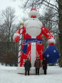 X023   8m High  inflatable christmas Santa Claus decoration  inflatable Santa Claus decoration for Christmas