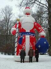 X023 8 m Alta decoración de navidad inflable Papá Noel Papá Noel inflable decoración de Navidad