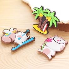 1 шт. креативные Мультяшные Животные Магнитные наклейки на холодильник детские подарки Домашнее украшение на холодильник