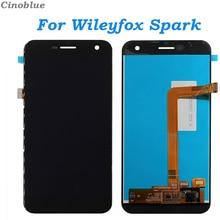 Дешевые LCD Display For Wileyfox Spark Touch Screen Digitizer For Wileyfox Spark Display Screen LCD Repair Parts