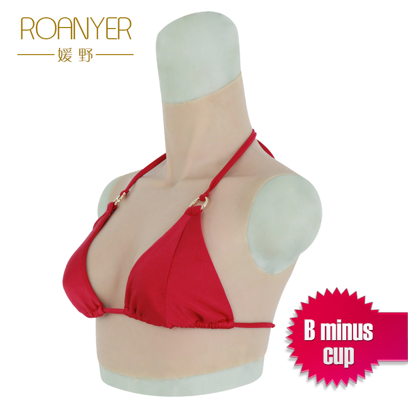 Roanyer Top B cup Realistic Fake Boobs Artificial Silicone Breast Form for Crossdresser drag queen shemale
