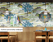 beibehang Beautiful environmentally friendly Japanese personalized sushi restaurant background stereo papel de parede wallpaper