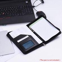 A5 из искусственной кожи портативный Бизнес Портфель Padfolio папка чехол для документов Органайзер с бизнес-держатель для карт блокнот