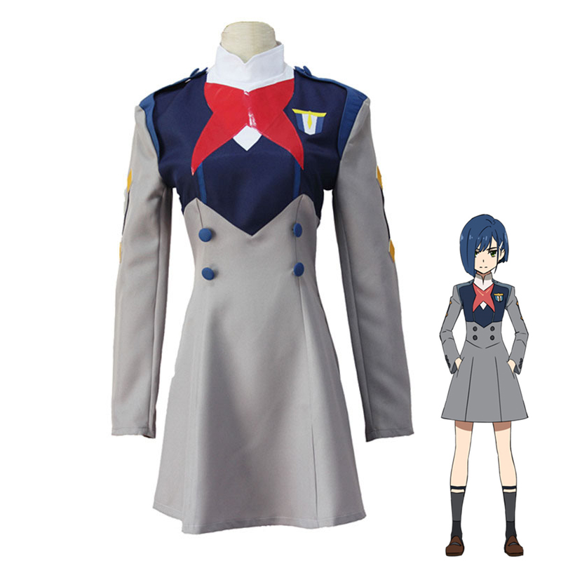 Anime DARLING in the FRANXX ICHIGO MIKU Women Dress Cosplay Costume CODE 015 Halloween Party Role Play Uniform
