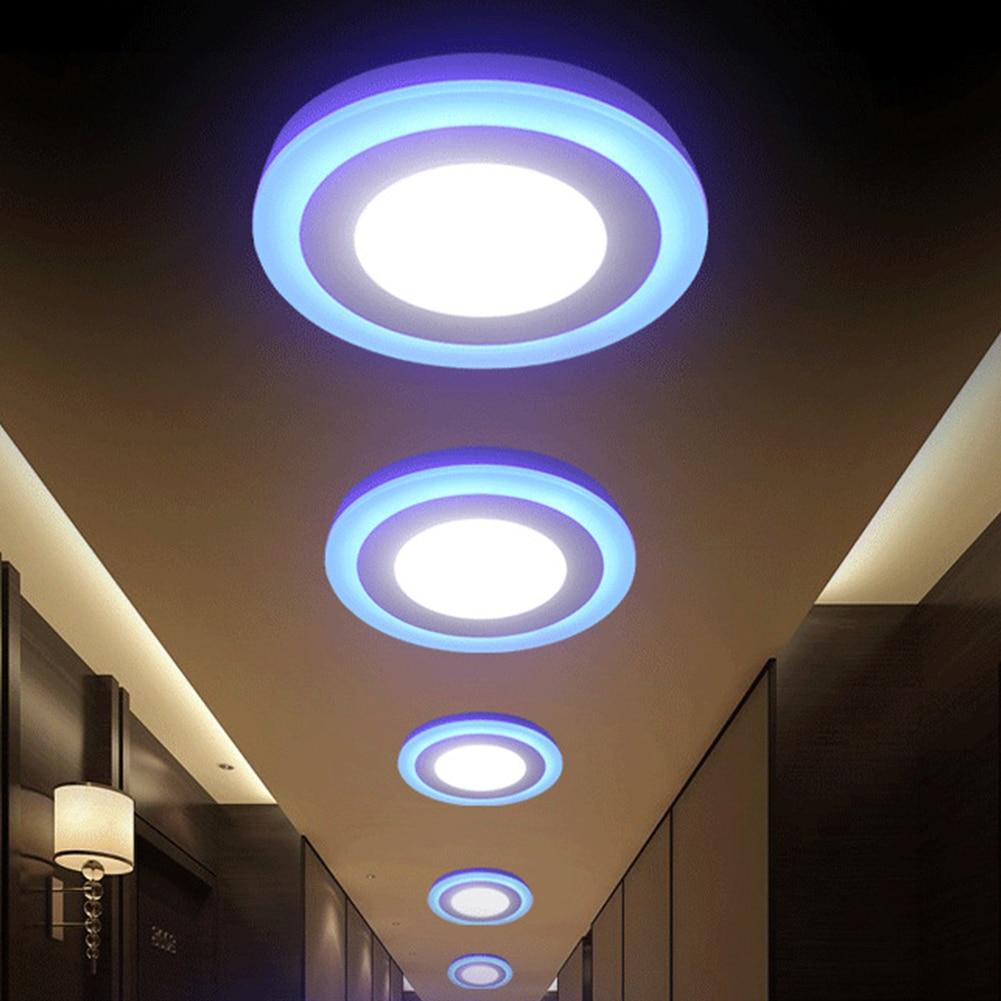 TSLEEN RGB ניתן לעמעום LED תקרת לוח אור LED עם שלט מפתח בקר + נהג תקרת 2835 נוריות אורות לסלון חדר