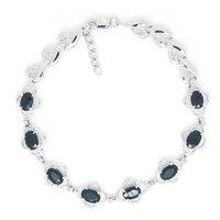 2017 Limited Qi Xuan_Fashion Jewelry_Dark Blue Stone Luxury Woman Bracelets_S925 Solid Silver Bracelets_Factory Directly Sales