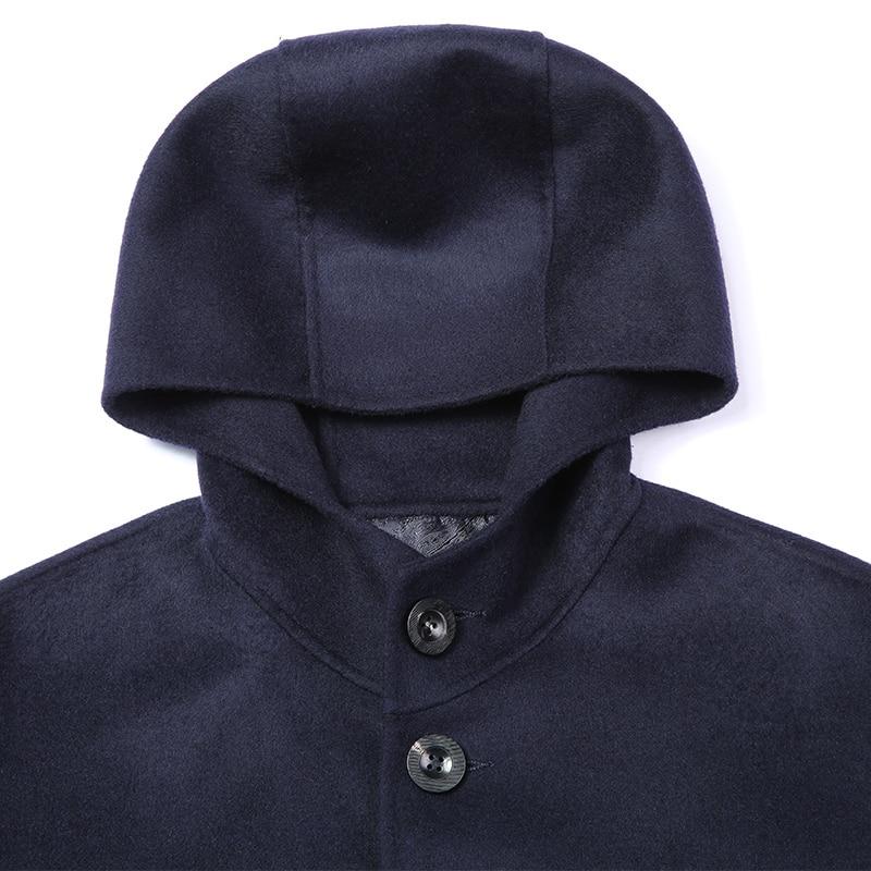 New Arrival 100% wool Long Trench Coat Men Fashion Wool coat Jackets Coats Brand-Clothing Hooded Men Overcoat